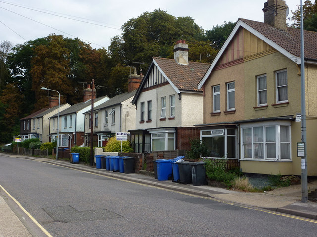 Houses on Burrell Road, Ipswich