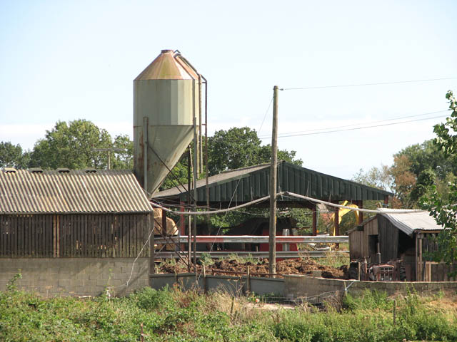 Sheds and silo at Street Farm