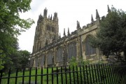 The south side of St Giles, Wrexham