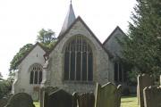 St Katharine's church Merstham:  east end