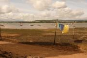 Lympstone: washing on the beach
