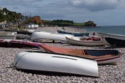 Budleigh Salterton: boats on the beach