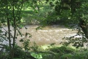 The River Coquet just downstream from a mill weir