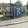 Blue former police box, Chepstow Road, Newport