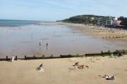 Cromer beach near pier