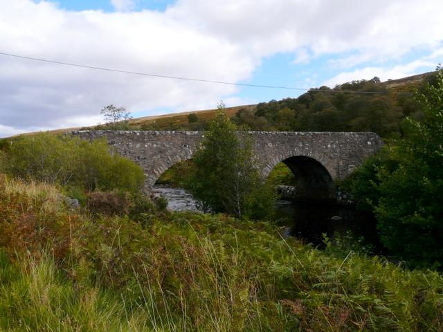 Double-arch bridge over the River Brora.