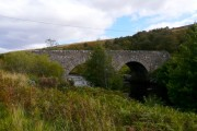 Double-arch bridge over the River Brora.