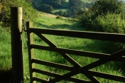 Gate into a field at Meas-Ben Dinas