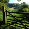 Gate into a field at Meas-Ben Dinas