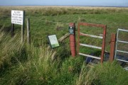 Access to Solway salt marshes at Border