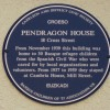 Blue Plaque at Pendragon House, Caerleon