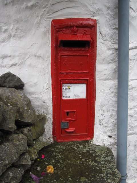 Victorian letter box in the Marton Arms Hotel
