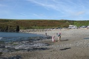 Abereiddy beach and sea defences