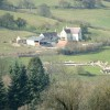 Remains of Witcombe Roman Villa from the hill opposite