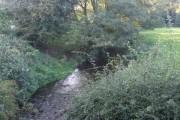 River Swarbourn upstream of Woodlane Bridge