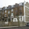 Rear view of London town houses