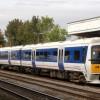 London train at Leamington Spa railway station