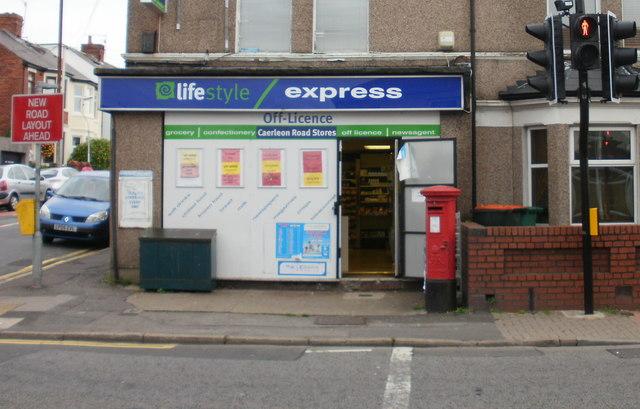 George V post box, Caerleon Road, Newport