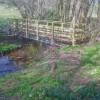 Footbridge over the Holly Brook