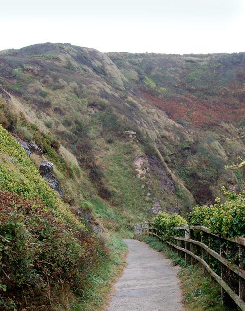Path down to the beach at Caerfai Bay