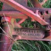 Inscription, mowing machine