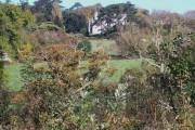 View north across farmland towards Cornelyn