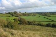 View from Hanbury Churchyard