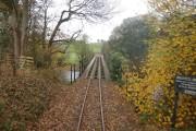 Leaving the Banwy Bridge