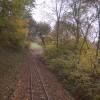 Rail tracks east of Banwy Bridge