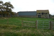 Older and newer barns at Woodlands