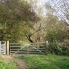 Gates into Leam Valley local nature reserve