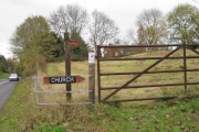 Field east of the parish church, Leek Wootton