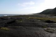 Coal waste on Horden Beach