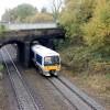 Train passing canal aqueduct near Warwick