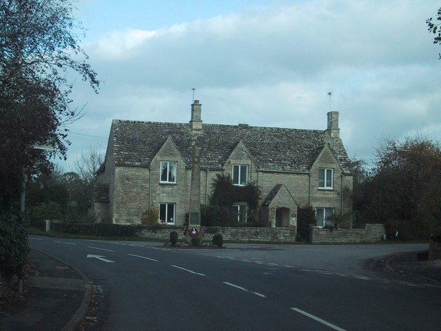 Road junction on the edge of Down Ampney