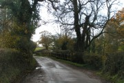 Lane crossing the river Clyst