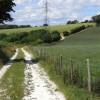 Track and farmland, Newton Valence