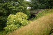 Former bridge on the Queensbury to Keighley Railway