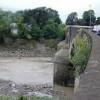 The edge of Caerleon Bridge and the Usk
