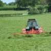 Grass cutting near Adderley, Shropshire