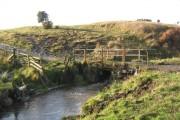 Farm bridge over River Deerness County Durham