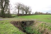 Farm bridge over a ditch beside Hall Road