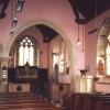The interior of West Anstey Parish Church, Somerset