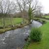 Afon Gwyrfai, upstream from Pont Faen