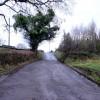 Hawthorns access road