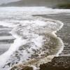 Turbulent waves, Norwick beach