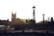 Tickford Bridge, Newport Pagnall with parish church in background