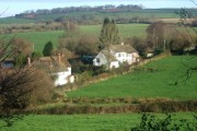 Stockleigh Pomeroy fields and houses