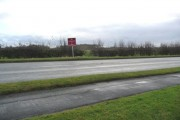 Warning sign on the A50, just north of the Allostock bends