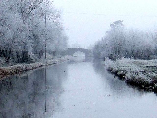 Barrow Bridge in Frost
